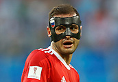 17th June 2017, St Petersburg, Russia;  FIFA 2017 Confederations Cup football, Russia versus New Zealand;  Group A - Saint Petersburg Stadium,    Russia's Fyodor Kudryashov with a faceial protection device