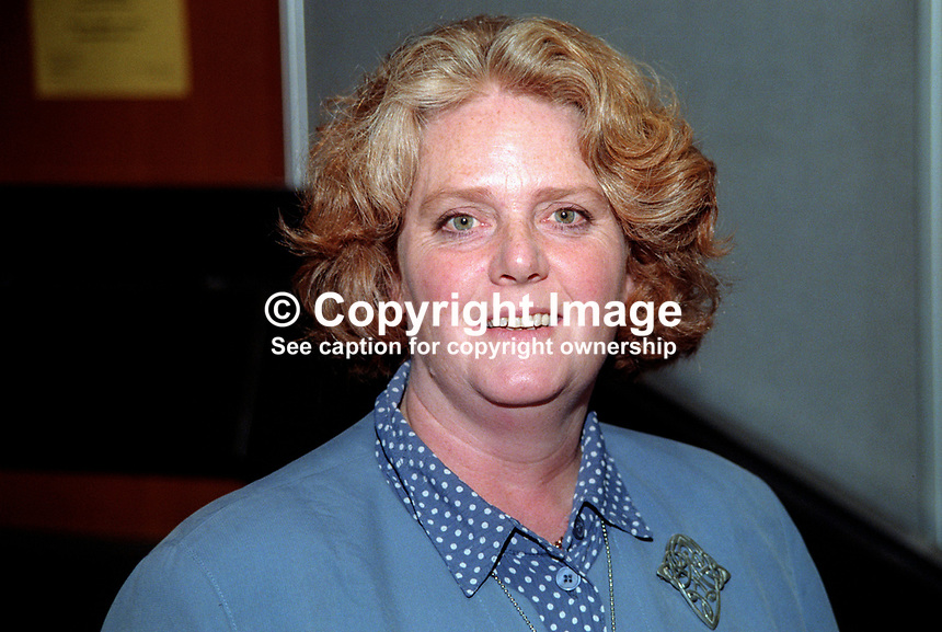 Jenny Jones, MP, Labour Party, UK, October, 1997, 199710052<br /> <br /> Copyright Image from Victor Patterson, 54 Dorchester Park, <br /> Belfast, UK, BT9 6RJ<br /> <br /> t1: +44 28 9066 1296 (from Rep of Ireland 048 9066 1296)<br /> t2: +44 28 9002 2446 (from Rep of Ireland 048 9002 2446)<br /> m: +44 7802 353836<br /> <br /> e1: victorpatterson@me.com<br /> e2: victorpatterson@gmail.com<br /> www.victorpatterson.com<br /> <br /> Please see my Terms and Conditions of Use at www.victorpatterson.com. It is IMPORTANT that you familiarise yourself with them.<br /> <br /> Images used on the Internet must be visibly watermarked i.e. &copy; Victor Patterson<br /> within the body of the image and copyright metadata must not be deleted. Images <br /> used on the Internet have a size restriction of 4kbs and will be chargeable at current<br />  NUJ rates unless agreed otherwise.<br /> <br /> This image is only available for the use of the download recipient i.e. television station, newspaper, magazine, book publisher, etc, and must not be passed on to any third <br /> party. It is also downloaded on condition that each and every usage is notified within 7 days to victorpatterson@me.com<br /> <br /> The right of Victor Patterson to be identified as the author is asserted in accordance with The Copyright Designs And Patents Act (1988). All moral rights are asserted.