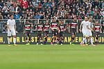 22.07.2017, Millerntor-Stadion, Hamburg, GER, FSP, FC St. Pauli vs SV Werder Bremen<br /> <br /> im Bild<br /> Aziz Bouhaddouz (St. Pauli #9) bejubelt seinen Treffer zum 2:1, Sami Allagui (St. Pauli #11), Daniel Buballa (St. Pauli #15), Marc Hornschuh (St. Pauli #16), Bernd Nehrig (St. Pauli #7), Lasse Sobiech (St. Pauli #3), <br /> <br /> Foto &copy; nordphoto / Ewert