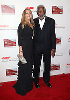 06 February 2017 - Beverly Hills, California - Lori McCreary, Morgan Freeman. AARP 16th Annual Movies For Grownups Awards held at the Beverly Wilshire Four Seasons Hotel. Photo Credit: F. Sadou/AdMedia