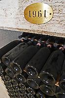 old bottles in the cellar 1961 couvent des jacobins saint emilion bordeaux france