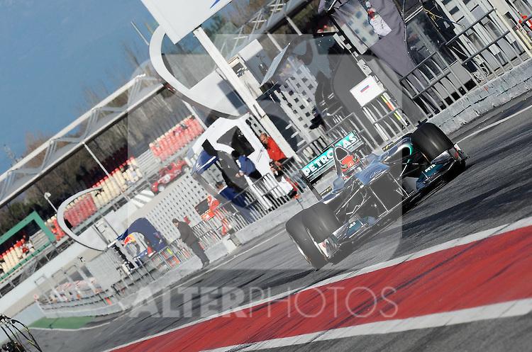 18.02.2011, Circuit de Catalunya, Barcelona, ESP, Formel 1 Test 3 2011,  im Bild Michael Schumacher (GER), Mercedes GP Foto © nph / Dieter Mathis