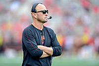 College Park, MD - SEPT 22, 2018: Maryland Terrapins head coach Matt Canada on the sideline during game between Maryland and Minnesota at Capital One Field at Maryland Stadium in College Park, MD. The Terrapins defeated the Golden Bears 42-13 to move to 3-1 on the season. (Photo by Phil Peters/Media Images International)