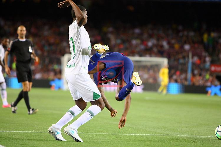 52e Trofeu Joan Gamper.<br /> FC Barcelona vs Chapecoense: 5-0.<br /> Moises vs Semedo.