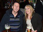 Paul Keegan and Cathy Sarsfield pictured at the St Lawrence Celtic Supporters night in The Venue at McHugh's. Photo:Colin Bell/pressphotos.ie