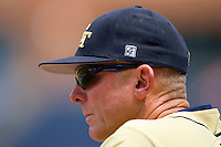 Georgia Tech Yellow Jackets head coach Danny Hall #17 watches the action versus Florida State Seminoles at Durham Bulls Athletic Park May 23, 2009 in Durham, North Carolina.  (Photo by Brian Westerholt / Four Seam Images)