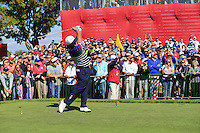 Patrick Reed US Team tees off the 11th tee during Thursday's Practice Day of the 41st RyderCup held at Hazeltine National Golf Club, Chaska, Minnesota, USA. 29th September 2016.<br /> Picture: Eoin Clarke | Golffile<br /> <br /> <br /> All photos usage must carry mandatory copyright credit (&copy; Golffile | Eoin Clarke)