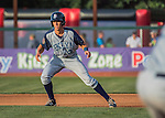 30 July 2016: Brooklyn Cyclones infielder Colby Woodmansee in action against the Vermont Lake Monsters at Centennial Field in Burlington, Vermont. The Lake Monsters defeated the Cyclones 7-1 in NY Penn League play. Mandatory Credit: Ed Wolfstein Photo *** RAW (NEF) Image File Available ***