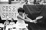Virginia Wade in a tennis match at Forest Hills, NY, Photo by Jim Peppler. Copyright/Jim Peppler/.