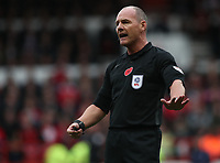 Match referee Scott Duncan<br /> <br /> Photographer Rachel Holborn/CameraSport<br /> <br /> The EFL Sky Bet Championship - Nottingham Forest v Sheffield United - Saturday 3rd November 2018 - The City Ground - Nottingham<br /> <br /> World Copyright &copy; 2018 CameraSport. All rights reserved. 43 Linden Ave. Countesthorpe. Leicester. England. LE8 5PG - Tel: +44 (0) 116 277 4147 - admin@camerasport.com - www.camerasport.com