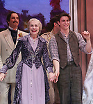 Mary Beth Peil and Derek Klenaduring Broadway Opening Night Performance Curtain Call bows for 'Anastasia' at the Broadhurst Theatre on April 24, 2017 in New York City.