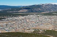 Aerial of Leadville, Colorado. Oct 2012
