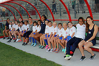 Piscataway, NJ - Wednesday Sept. 07, 2016: Bench Buddies with players prior to a regular season National Women's Soccer League (NWSL) match between Sky Blue FC and the Orlando Pride FC at Yurcak Field.