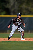 St. Bonaventure Bonnies center fielder Taishi Terashima (1) leads off second base during a game against the Dartmouth Big Green on February 25, 2017 at North Charlotte Regional Park in Port Charlotte, Florida.  St. Bonaventure defeated Dartmouth 8-7.  (Mike Janes/Four Seam Images)