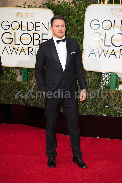 Channing Tatum arrives at the 73rd Annual Golden Globe Awards at the Beverly Hilton in Beverly Hills, CA on Sunday, January 10, 2016. Photo Credit: HFPA/AdMedia