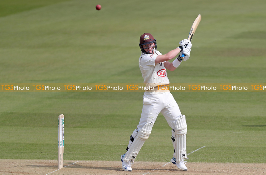 Ollie Pope of Surrey hits six runs during Surrey CCC vs Essex CCC, Specsavers County Championship Division 1 Cricket at the Kia Oval on 14th April 2019