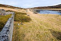 Stokksund, Norway. German remnants from a World War 2 radar station on Linesøya.