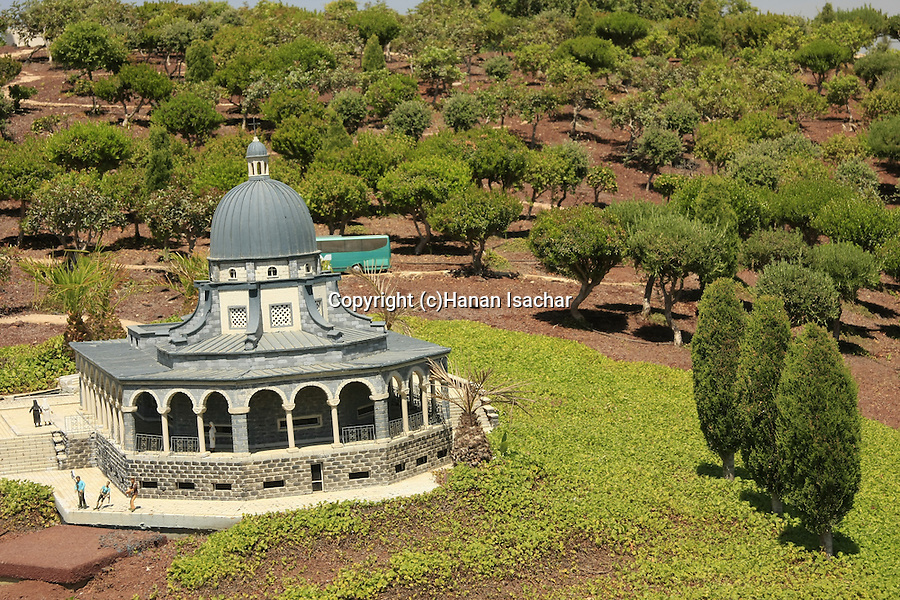 Israel, Shephelah. A model of the Church of the Beatitudes in Mini Israel park