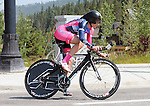 "August 121, 2015 - Breckenridge, Colorado, U.S. -  Vista Dallas rider, Anna Grace Christiansen, during the inaugural women's edition of the U.S. Pro Cycling Challenge, Breckenridge, Colorado.  Known as ""America's Race,"" the USA Pro Challenge takes place August 17-23, 2015 and for the first time will highlight women's cycling through an inaugural  three-day invitation-only event that will feature many of the USA's top women cyclists."