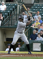 August 2, 2004:  Pedro Swann of the Ottawa Lynx, Triple-A International League affiliate of the Baltimore Orioles, during a game at Frontier Field in Rochester, NY.  Photo by:  Mike Janes/Four Seam Images