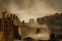 Dusty streets of Bamyan.