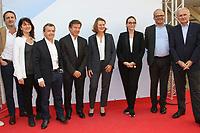 THOMAS ANARGYROS, JOHANNE LARUE, ALAIN WEILL, GILLES PELISSON, ANNE DURUPTY, DELPHINE ERNOTTE-CUNCI, DAVID KESSLER, THOMAS VALENTIN - 19EME FESTIVAL DE LA FICTION TV DE LA ROCHELLE, FRANCE, LE 15/09/2017.