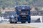 German driver Stephanie Halm belonging German team Stephanie Halm during the super pole SP1 of the XXX Spain GP Camion of the FIA European Truck Racing Championship 2016 in Madrid. October 01, 2016. (ALTERPHOTOS/Rodrigo Jimenez)
