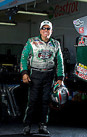 Sept. 19, 2010; Concord, NC, USA; NHRA funny car driver John Force poses for a portrait during the O'Reilly Auto Parts NHRA Nationals at zMax Dragway. Mandatory Credit: Mark J. Rebilas-