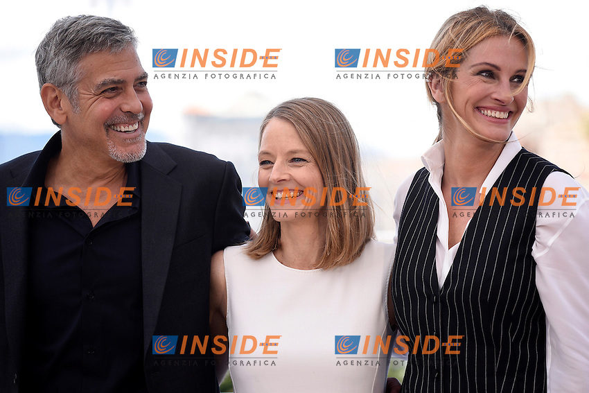 George Clooney - Jodie Foster - Julia Roberts <br /> Festival di Cannes 2016 <br /> Foto Panoramic / Insidefoto