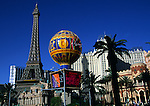 Eiffel Tower at Paris casino, The Strip, Las Vegas, Nevada, USA