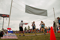 Finish line view during one of the races at the 2013 Parkway West Cross Country Invitational.