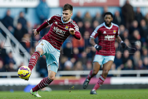 18.01.2015.  London, England. Barclays Premier League. West Ham versus Hull City.  West Ham United's Carl Jenkinson in action