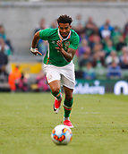 June 4th 2017, Aviva Stadium, Dublin, Ireland; International football friendly, Republic of Ireland versus Uruguay; Cyrus Christie chases after the ball for Republic of Ireland