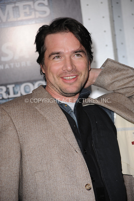 WWW.ACEPIXS.COM . . . . . ....December 17 2009, New York City....Actor Matthew Settle arriving at the New York premiere of 'Sherlock Holmes' at the Alice Tully Hall, Lincoln Center on December 17, 2009 in New York City.....Please byline: KRISTIN CALLAHAN - ACEPIXS.COM.. . . . . . ..Ace Pictures, Inc:  ..(212) 243-8787 or (646) 679 0430..e-mail: picturedesk@acepixs.com..web: http://www.acepixs.com