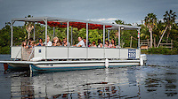Ferry ride around Monkey Island during the Naples Zoo 'Once Upon a Time' Childrens Gala ... photo/debi pittman wilkey