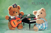 Interlitho, Alberto, CUTE ANIMALS, teddies, photos, 2 teddies, piano, guitar(KL1984/8,#AC#)