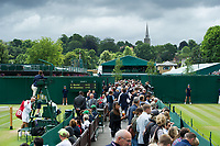Fans on the outside courts on Day 9<br /> <br /> Photographer Ashley Western/CameraSport<br /> <br /> Wimbledon Lawn Tennis Championships - Day 9 - Wednesday 12th July 2017 -  All England Lawn Tennis and Croquet Club - Wimbledon - London - England<br /> <br /> World Copyright &not;&copy; 2017 CameraSport. All rights reserved. 43 Linden Ave. Countesthorpe. Leicester. England. LE8 5PG - Tel: +44 (0) 116 277 4147 - admin@camerasport.com - www.camerasport.com