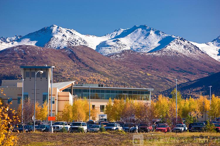 The Anchorage Native Medical center, fall, Anchorage, Southcentral Alaska, USA.