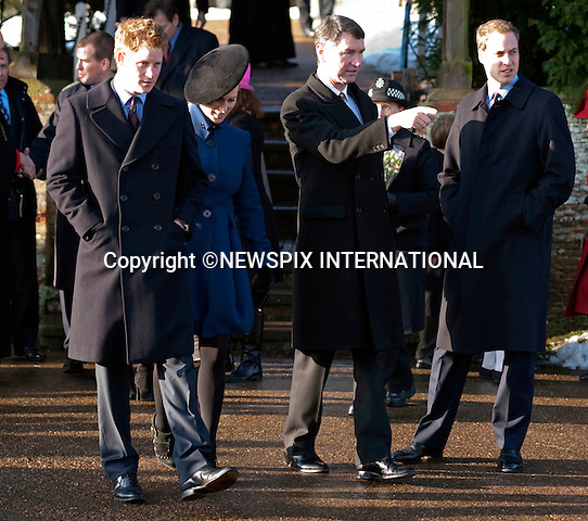 "PRINCE WILLIAM, , TIM LAURENCE, ZARA PHILLIPS AND PRINCE HARRY.British Royal Family attend Christmas Day Church service at Sandringham. UK_25/12/2009.Mandatory Credit Photo: ©DIAS-NEWSPIX INTERNATIONAL..**ALL FEES PAYABLE TO: ""NEWSPIX INTERNATIONAL""**..IMMEDIATE CONFIRMATION OF USAGE REQUIRED:.Newspix International, 31 Chinnery Hill, Bishop's Stortford, ENGLAND CM23 3PS.Tel:+441279 324672  ; Fax: +441279656877.Mobile:  07775681153.e-mail: info@newspixinternational.co.uk"