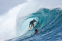 Namotu Island, Fiji (Friday, June 5, 2015) Adrian Buchan (AUS).  A storm front blew in overnight with wind and rain. The swell also built during the night to a solid 10'. Cloudbreak was very messy and unridable due to the winds and the chop. Restaurants was the only spot working in the 4' + range with a packed session as the tide dropped to the 2.30pm low and then another late afternoon session.<br />  Photo: joliphotos.com