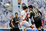 Rayo Vallecano´s Ze Castro and Malaga CF´s Juan Miguel Jimenez during 2014-15 La Liga match between Rayo Vallecano and Malaga CF at Rayo Vallecano stadium in Madrid, Spain. March 21, 2015. (ALTERPHOTOS/Luis Fernandez)