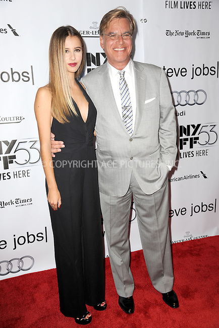 WWW.ACEPIXS.COM<br /> October 3, 2015 New York City<br /> <br /> Roxy Sorkin and Aaron Sorkin attending the 53rd New York Film Festival premiere of 'Steve Jobs' at Alice Tully Hall, Lincoln Center on October 3, 2015 in New York City.<br /> <br /> Credit: Kristin Callahan/ACE Pictures<br /> <br /> Tel: (646) 769 0430<br /> e-mail: info@acepixs.com<br /> web: http://www.acepixs.com