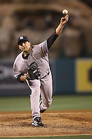 05/29/12 Anaheim, CA: New York Yankees starting pitcher Andy Pettitte #46 during an MLB game played between the New York Yankees and the Los Angeles Angels at Angel Stadium. The Angels defeated the Yankees 5-1.