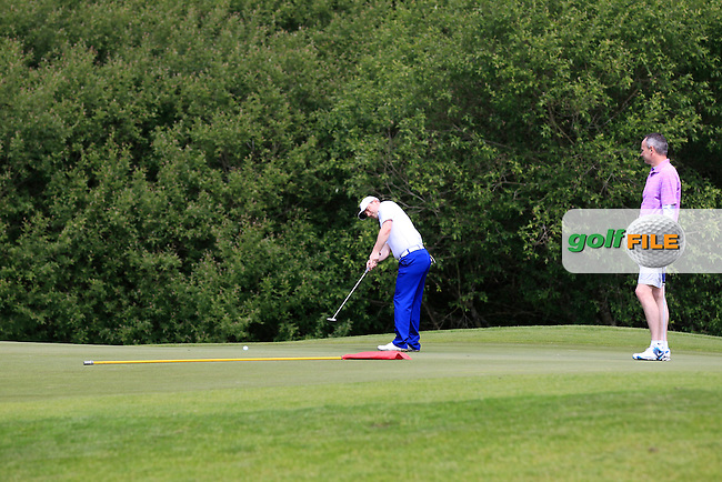 Joe Bernie Jnr (Athenry) on the 1st during Round 1 of the Irish Mid-Amateur Open Championship at New Forest on Saturday 20th June 2015.<br /> Picture:  Thos Caffrey / www.golffile.ie