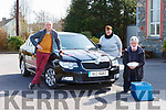 Listry Community Cpuncil Meals and Wheels are continuing delivering with the held of the Listry social spin helping out l-r: Sean O'Mahony, Tony Darmody and Catriona Doody-O'Connor