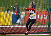 Photo: Richard Lane/Richard Lane Photography..Aviva World Trials & UK Championships athletics. 11/07/2009. Carys Parry in the women's hammer.