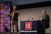 London 20/05/2013. Today, the LSE (London School of Economics) presented a public lecture called &quot;Banker to the Poor: Lifting Millions Out of Poverty through Social Business&quot; hosted by Professor Muhammad Yunus (Bangladeshi Professor of economics, he developed the concepts of microcredit and microfinance; in 2006 Yunus and Grameen Bank received the Nobel Peace Prize &quot;for their efforts through microcredit to create economic and social development from below&quot;; in 2010 he was awarded the U.S. Congressional Gold Medal in 2010). Chair of the event was Professor Craig Calhoun (American sociologist and Director of LSE).<br /> <br /> Here there is the link to the podcast (and video) to listen the lecture: http://bit.ly/165eLra