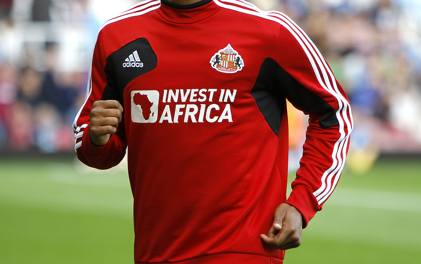 Invest in Africa shirt worn by Fraizier Campbell..Football - Barclays Premiership - West Ham United v Sunderland - Saturday 22nd September 2012 - Boleyn Ground - London..