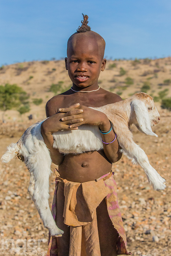 Himba Child in remote Kaokoland, Namibia
