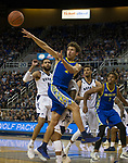 San Jose State guard Brae Ivey (2) passes the ball against Nevada in the second half of an NCAA college basketball game in Reno, Nev., Wednesday, Jan. 9, 2019. (AP Photo/Tom R. Smedes)